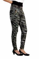 Lycra Cotton Fancy Women Printed Pant