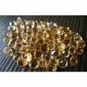 Yellow Faceted Citrine Round Shape Gemstone