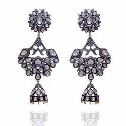 Dangler Fine Diamond Polki Earring