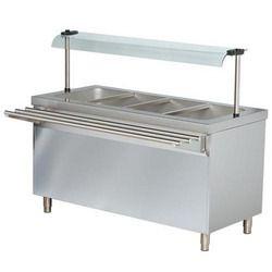Rectangular Stainless Steel Bain Marie Counter for Restaurant