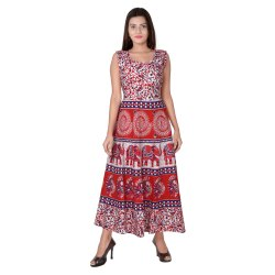 Fancy Jaipuri Print Frock