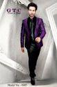 Gtc Chex Matt Designer Purple Men''s Blazer