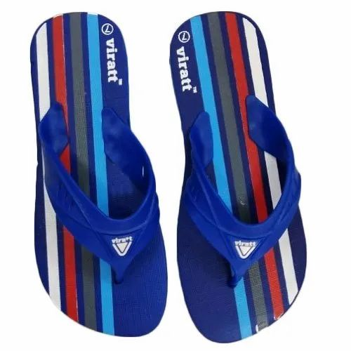 5da6fc530 Daily Wear Rubber Also Available In EVA Mens Blue Hawai Slipper, Size: 7