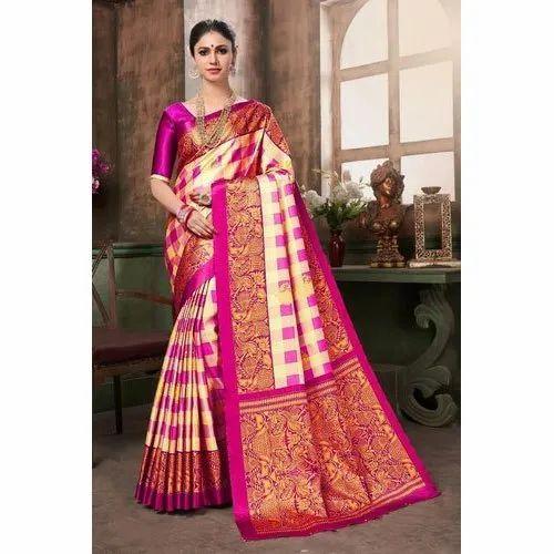1dd8ce6f03 Trendy Silk Sarees, 5.5 M (separate Blouse Piece), Rs 350 /piece ...
