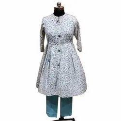 Atenica Ladies Printed Cotton Suit, Handwash