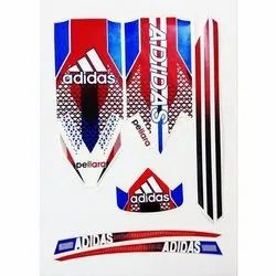 Multicolor Cricket Bat Vinyl Stickers