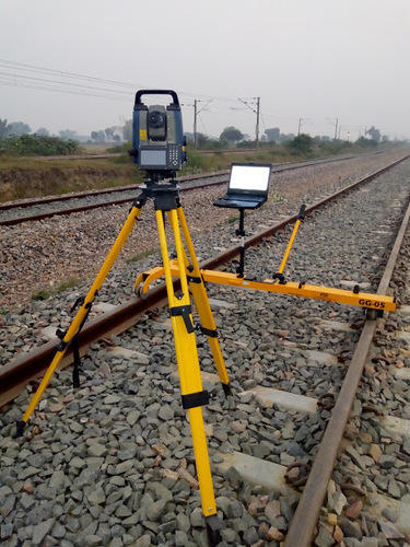 Track Measuring Device : Track measurement device railway survey trolley