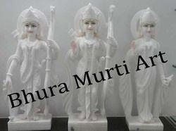 Shri Ram Darbar White Marble Statue