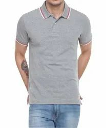 Mens Cotton Polo Neck Half Sleeve T Shirt