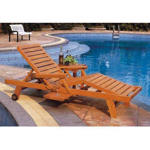 Brown Wooden Pool Deck Chair, Arniture | ID: 19210378712