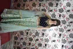 rabia fashion blue Lehenga Choli