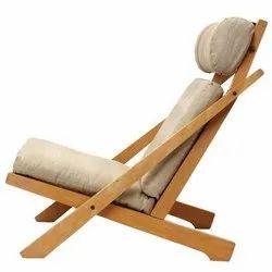 Assam Teak Wood Modern Wooden Folding Chair, No Of Legs: 4, for Home