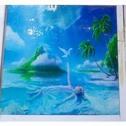 Sea Design Printed Glass