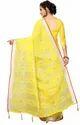 Dollar Yellow Pure Lilan  Cotton Saree