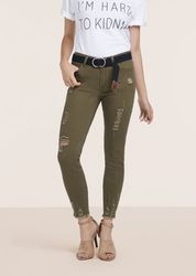 Blue Stretchable Green Skinny Jeans