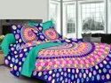 Polka Dot Multi color Cotton Double Bed Sheet