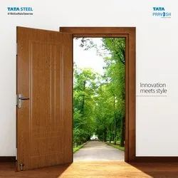 Brown Single Door TATA Pravesh Residential Doors, For Home