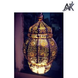 AK Handicrafts Gold Metal Wedding Decorative Lamps for Events
