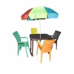 Square Plastic Dining Table Set, Chair And Tables, for Home, Restaurant