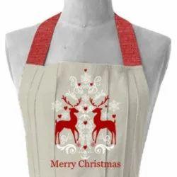 Cotton Christmas Special Printed Apron Kitchen, Size: 70 x 90 cm