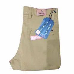 Warnllis Cotton/Linen Men Plain Trouser