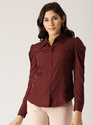 MAROON SOLID SHIRT