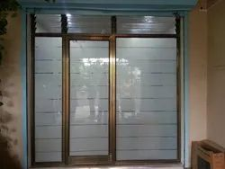 Golden Hinged Aluminium Partition And Door, For Office
