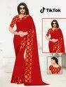 Tik Tok-Tc Fancy Silk Chiffon Sarees