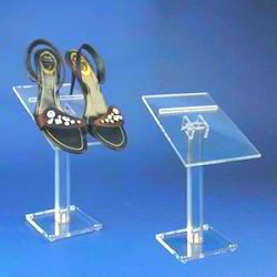 Clear V Shape Acrylic Shoes Display Rack