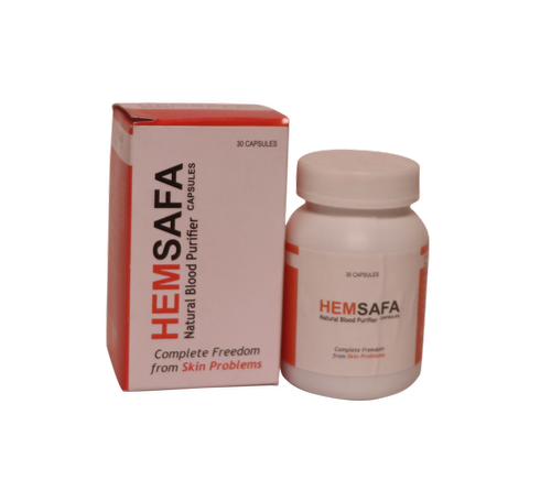 Hemsafa Capules Herbal Blood Purifier 1x30 Capsules, for Clinical, Packaging Type: Pet Bottle with Mono Cartoon