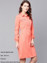 Women's Embroidered Shirt Dress