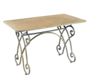 Powder Coated Wood Dining Table, For Hotel, Iron