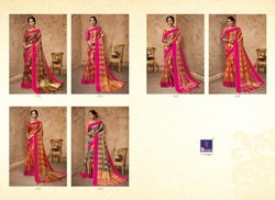 Shangrila Party Wear Silk Saree with Blouse Piece