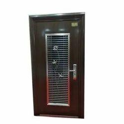 Brown Steel Double Door for Home