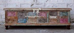 Vintage Hotel Furniture - Colorful Storage Trunks - Resort Furniture - Area Accent Furniture
