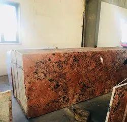 Polished Block Alaska Red Granite, Thickness: 20-25 mm