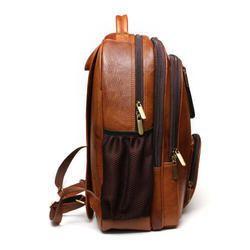 Leather Laptop Backpack Bag