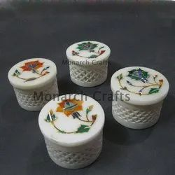 Monarch Crafts Round Hand Made Jewelry Boxes