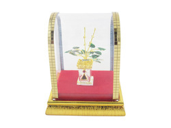 Pure Silver Tulsi Kyara With Cabinet (Good Luck Gift)