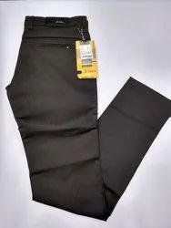 Men Black Regular Fit Cotton Trouser