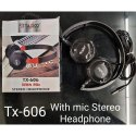 Taxico Wired Tx 606 Mic Stereo Earphone, For Mobile