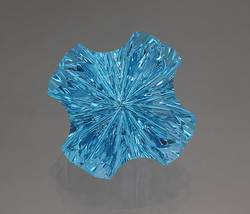 Pentagon Cut Blue Stone