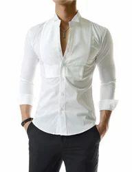 Cotton And Satin Tuxedo Shirts, Size: Medium And Large