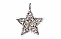 Star Diamond Silver Pendant