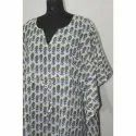 Hand Block Print Cotton Long Kaftan Dress