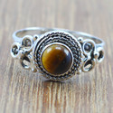 Handmade 925 Sterling Silver Jewelry Tiger Eye Gemstone Ring Wr-5024
