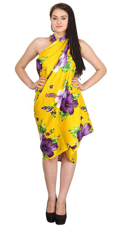 1359bd8e29 Free Size Women's Beautiful Beach Wear Sarong (Yellow), Rs 348.00 ...