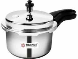 1 Pieces Triones Stainless Steel Pressure Cooker - 3 Ltr (Triply), For Home