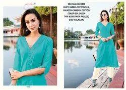 Rachna Cotton Satin Pattern Cut Catalog Kurti With Palazzo For Women 8