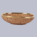 Oval Shallow Cane Fruit Bowl